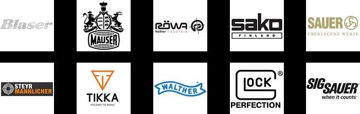 Logos der Partner von HF-Jagdwaffen in Innsbruck