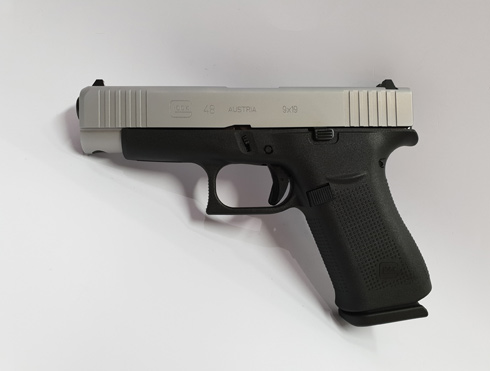 Glock 48 Silver Slide 9 mm Luger