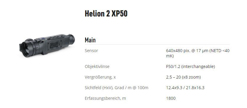 Pulsar Helion 2 XQ38F XQ50F XP50 XP50 PRO Wärmebildmonokular HF Jagdwaffen Innsbruck